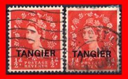 GRAN BRETAÑA  TANGER  ( TANGER BRITANICO ) 2 STAMPS 1952 -1954 QUEEN ELIZABETH II - South West Africa (1923-1990)