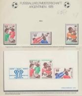 343 Football (Soccer) Argentina 78 - Neuf ** MNH - Mali N° 625/7 + Bloc 10 - Fußball-Weltmeisterschaft