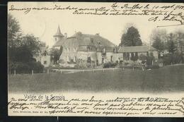 Vallée De La Semois: Rossignol , Vue Générale Du Château ; écrite: Jamoigne 1903 Pour L'Allemagne - Tintigny