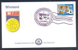 Myanmar  2004 Cover: Football Fussball Soccer Calcio; Myanmar Football Federation; Fairplay Cup Cancellation - Other