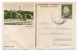 1955 SARAJEVO, BOSNIA,TITO, YUGOSLAVIA, USED, ILLUSTRATED POSTCARD - Bosnia And Herzegovina