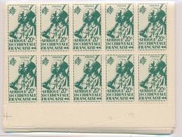 CP-233: AOF: Lot Avec  N°4/22** En Blocs De 10 - Unused Stamps