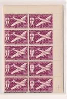 CP-234: Nelle CALEDONIE: Lot Avec PA N°46/52** En Blocs De 10 - Airmail