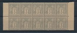 CP-236: FRANCE: Lot Avec N°87** Bloc De 10 - 1876-1898 Sage (Type II)