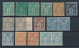 "CM-236: FRANCE: Lot* Avec "" SAGE N/U"" N°75(4)-80-83-87(2)-88-90(3)-94(2)-101(2) - 1876-1898 Sage (Type II)"