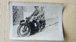 PHOTO DRESCH  350 National MOTOCYCLETTE COUPLE  ( AVEC LES CHAUSSONS ) - Motos