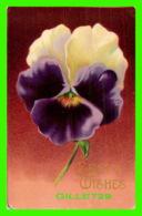 FLEURS - VIOLA - PENSÉE - BEST WISHES - 3/4 BACK - WRITTEN - - Fleurs
