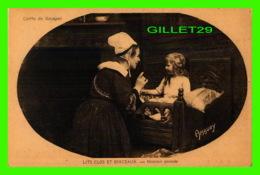 ENFANTS - LITS CLOS ET BERCEAUX, MAMAN GRONDE - COIFFE DE GOUEZEC - AMAURY - HAMONIC - - Enfants