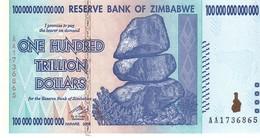 Zimbabwe P.91  100  Trillion   Dollars 2008 Unc - Zimbabwe