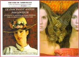 """2 Cartes Postales """"Cart'Com"""" (1999) - Théâtre Du Nord-ouest - Théâtre Du Renard (corpsensus) - Théâtre"""
