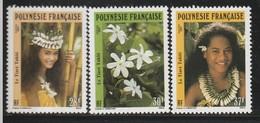 POLYNESIE - N° 371/3 ** (1990) Le Tiaré Tahiti - Französisch-Polynesien