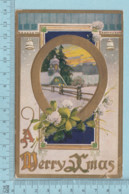 Carte Postale CPA - Christmas Horse Shoe...  - Used Voyagé En 1909 + USA Stamp, Send To Sherbrooke Quebec - Noël