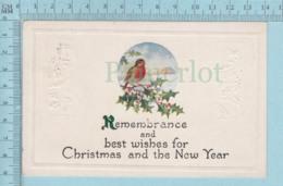 Carte Postale CPA - ChristmasRememberance   - Used Voyagé En 1924 + USA Stamp, - Noël