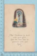 Carte Postale CPA - Christmas   - Used Voyagé En 1925 + USA Stamp, Cover Benton Maine - Noël
