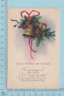 Carte Postale CPA - Christmas, Bells   - Used Voyagé En 1924 + USA Stamp, Cover Brattleboro VT - Noël