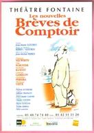 """Carte Postale """"Cart'Com"""" (1999) - Théâtre Fontaine - Les Nouvelles Brèves De Comptoir (illustration Sempé) - Sempé"""