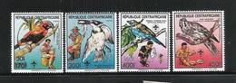 REPUBLIQUE CENTRAFRICAINE -1988- 4 Valori Nuovi Stl  Con Soprastampa - FAUNA E SCAUTISMO - In Ottime Condizioni. - Padvinderij