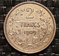 Belgium 2 Francs 1909 (FR) - 1865-1909: Leopold II