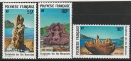 POLYNESIE - N° 386/8 ** (1991) Sculptures Des îles Marquises - Polinesia Francesa