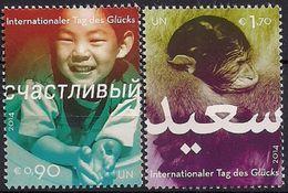 2014 UNO Wien  MI. 806-7 **MNH     Internationaler Tag Des Glücks. - Wien - Internationales Zentrum