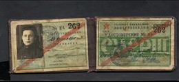 The ID Identity Document Of The Agent Of SMERSH. Woman. 1945. USSR. RRR. Original. - Documents Historiques