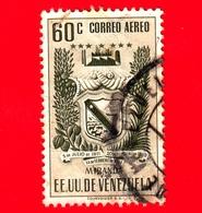 VENEZUELA - Usato - 1952 - Stemma Dello Stato Di Miranda - Arms - 60 - P. Aerea - Venezuela