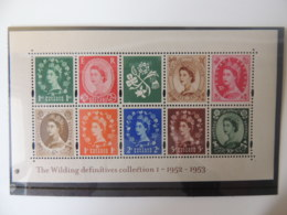 GREAT BRITAIN 2002 50th ANNIVERSARY OF WILDING DEFINITIVES MINIATURE SHEET MS2326 UNMOUNTED MINT POSTAL HISTORY - Unused Stamps