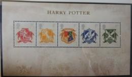GREAT BRITAIN 2007 HARRY POTTER MINIATURE SHEET MS2757 UNMOUNTED MINT CRESTS CHILDREN CINEMA LITERATURE - Unused Stamps