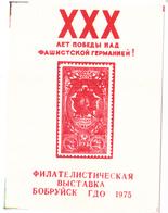 USSR  Philatelic Exhibition Souvenir Sheet Babruysk Belarus 1975 A - 1923-1991 URSS