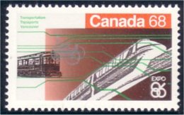 Canada Expo 86 Tramway Train Vancouver MNH ** Neuf SC (C10-93d) - Expositions Universelles