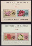 Panama, 1966, Flowers, 2 S\s Blocks, 26 Euro - Orchideeën
