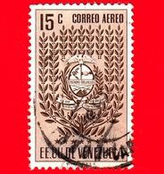 VENEZUELA - Usato - 1952 - Stemma Dello Stato Di Trujillo - Arms - 15 - P. Aerea - Venezuela