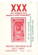 USSR  Philatelic Exhibition Souvenir Sheet Babruysk Belarus 1975 C - 1923-1991 URSS
