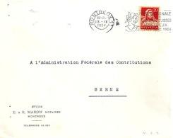 """Motiv Brief  """"Etude Maron, Montreux""""  (Flagge: Fête Costumes Suisses)          1934 - Lettres & Documents"""