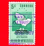VENEZUELA - Usato - 1953 - Mappa Del Territorio Federale Del Delta Amacuro - 5 - Venezuela