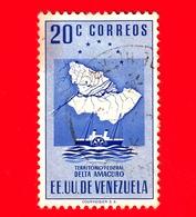 VENEZUELA - Usato - 1953 - Mappa Del Territorio Federale Del Delta Amacuro - 20 - Venezuela