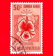 VENEZUELA - Usato - 1953 - Stemma Dello Stato Di Amazonas - Arms - 50 - P. Aerea - Venezuela