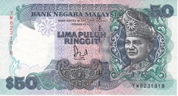 BILLETE DE MALASIA DE 50 RINNGIT DEL AÑO 1987  (BANKNOTE) - Malasia