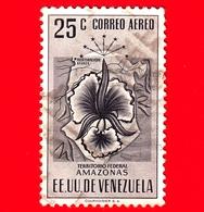 VENEZUELA - Usato - 1953 - Stemma Dello Stato Di Amazonas - Arms - 25 - P. Aerea - Venezuela