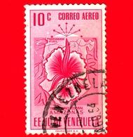 VENEZUELA - Usato - 1953 - Stemma Dello Stato Di  Amazonas - Arms - 10 - P. Aerea - Venezuela