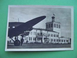 KIEV 1954 AIRPORT, Station, Airplane. Russian Photo Postcard - Vliegvelden