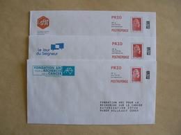 Postréponse Prio 20g, 3 Enveloppes Nouvelle  Marianne L'engagée, YseultYZ , ARC, CFRT, SPA, TB. - Entiers Postaux