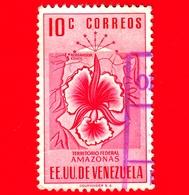 VENEZUELA - Usato - 1953 - Stemma Dello Stato Di  Amazonas - Arms - 10 - Venezuela