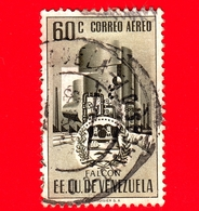 VENEZUELA - Usato - 1953 - Stemma Dello Stato Di Falcon - Arms - 60 - P. Aerea - Venezuela