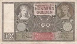 BILLETE DE HOLANDA DE 100 GULDEN DEL AÑO 1941 (BANKNOTE) - [2] 1815-… : Kingdom Of The Netherlands