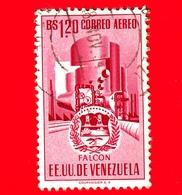 VENEZUELA - Usato - 1953 - Stemma Dello Stato Di Falcon - Arms - 1.20 - P. Aerea - Venezuela