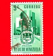 VENEZUELA - Usato - 1953 - Stemma Dello Stato Di Falcon - Arms - 5 - Venezuela