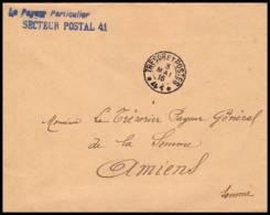 3243 Lettre France Guerre 1914/1918 (trésor Et Postes) Secteur 41 Cachet En Bleu 1916 - Guerre De 1914-18