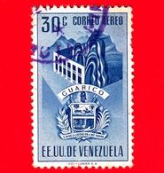 VENEZUELA - Usato - 1953 - Stemma Dello Stato Di Guarico - Arms - 30 - P. Aerea - Venezuela