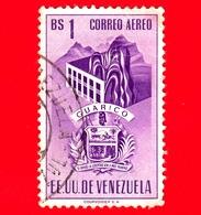 VENEZUELA - Usato - 1953 - Stemma Dello Stato Di Guarico - Arms - 1 - P. Aerea - Venezuela